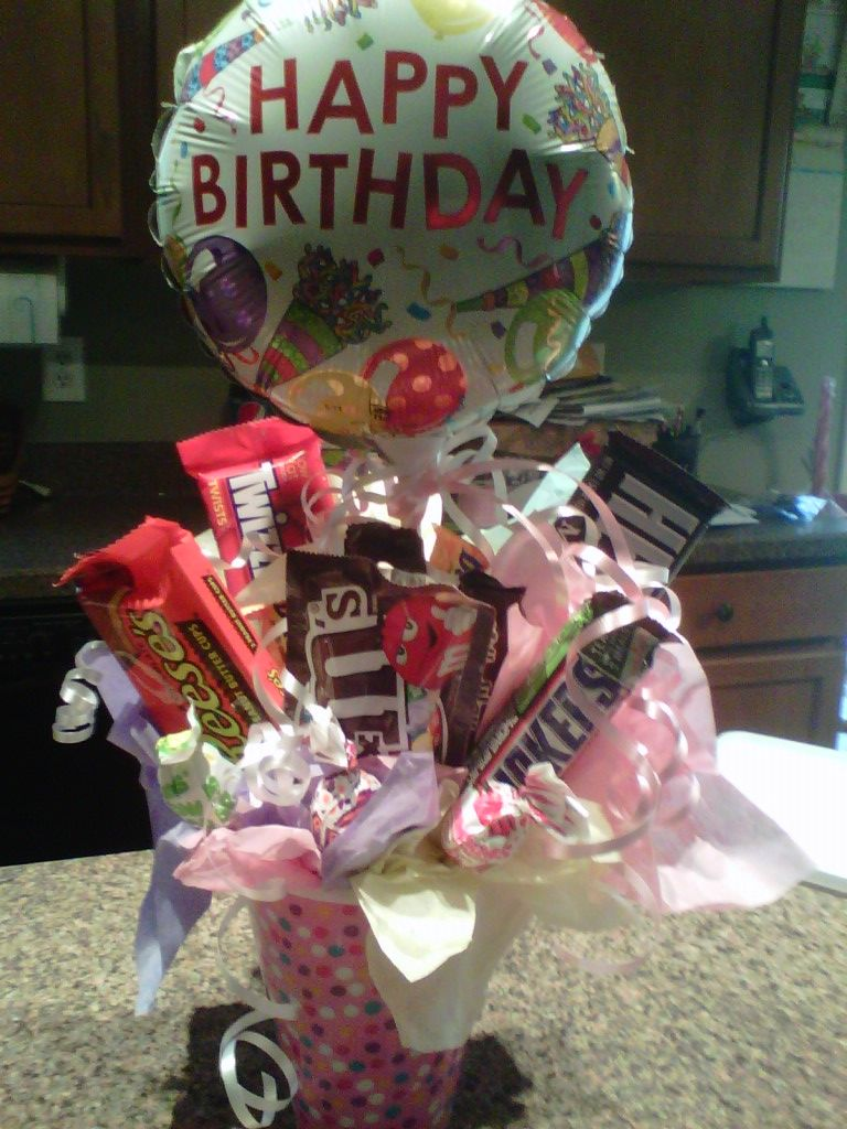 Candy Bouquet. Candy bouquet, Happy birthday to you, Dyi