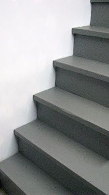 Perfect Paint Your Unfinished Stairs With Behr Porch And Patio Floor Paint In Slate  Gray