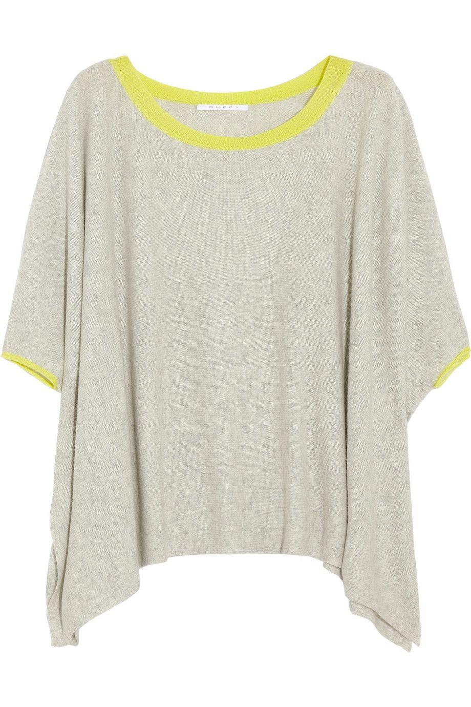 Recortada Neon suéter de cachemira cubierto por Duffy