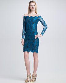 B1WM2 Emilio Pucci Off-the-Shoulder Lace Dress