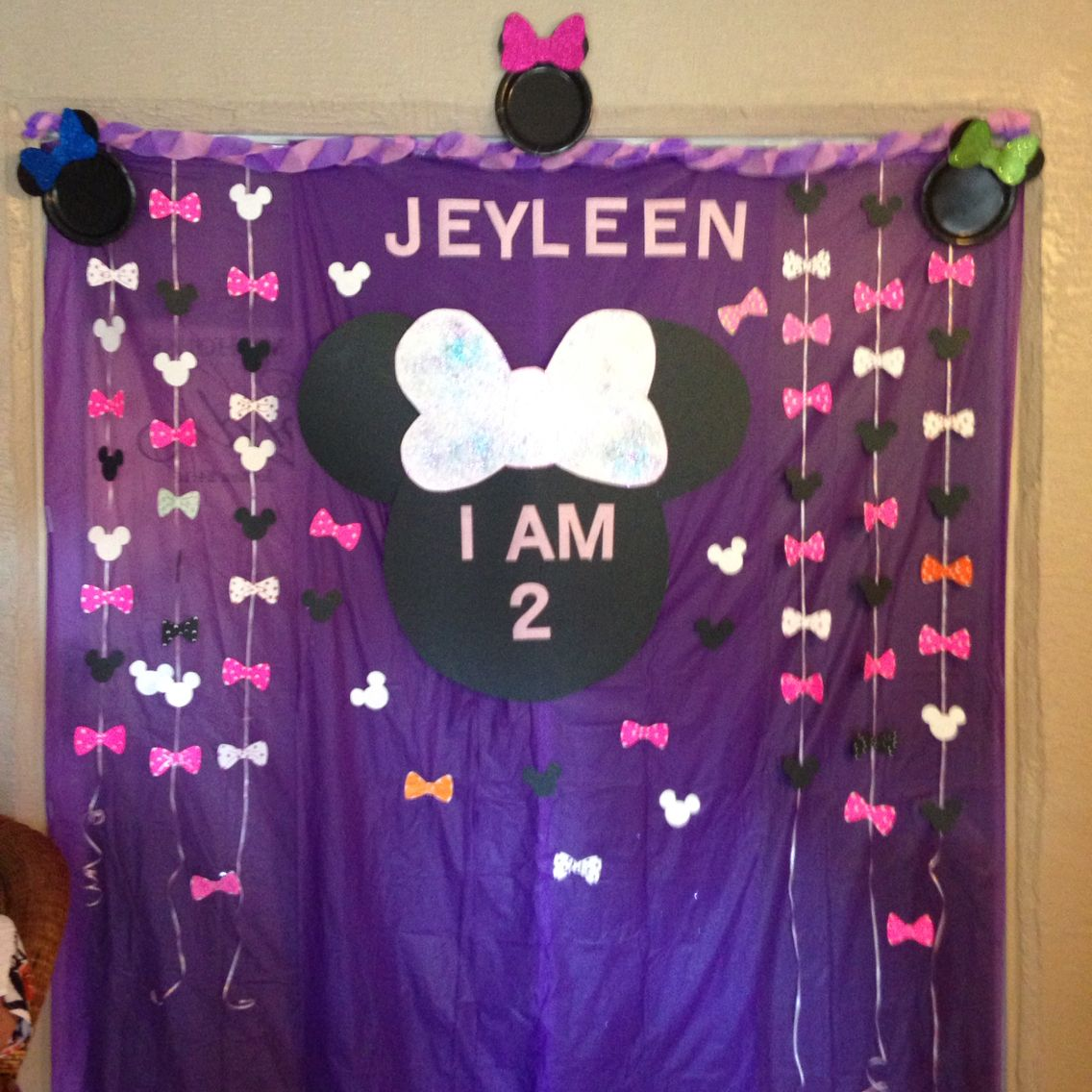 Minnie Mouse birthday backdrop My DIY projects Pinterest
