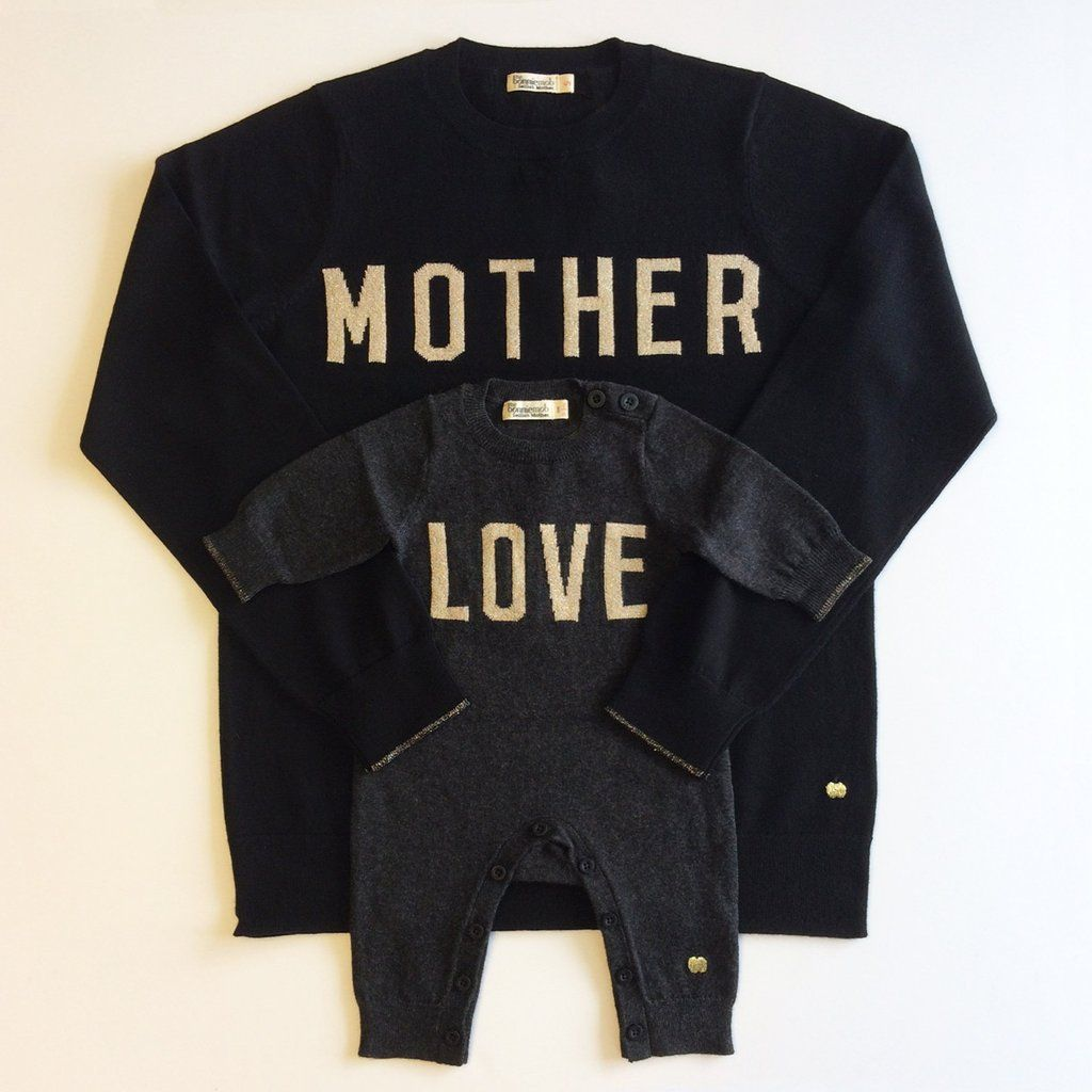 MOTHER LOVE cashmere gift set. £30 of each set goes to Refugee Support Europe. What a lovely Mothers Day Gift. British designed unisex baby and kids fashion clothing brand for stylish little ones. The bonnie mob ship worldwide from the UK.