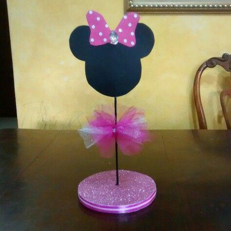 Centro de Mesa Minnie Mouse brillos