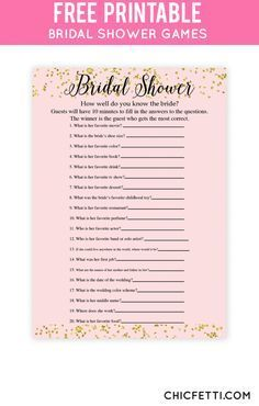 free printable bridal shower games blush gold confetti know bride 3