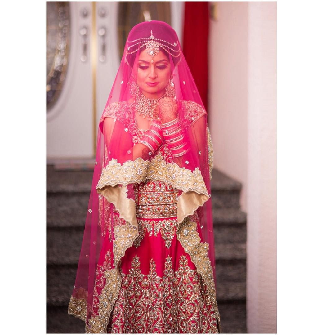 pink and gold bridal lengha - Google Search   Pretty Indian Things ...