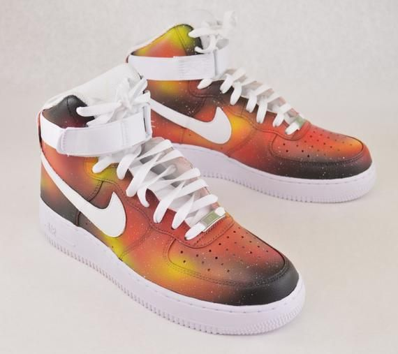 Solar Flare Galaxy Air Force One Nike Sneakers