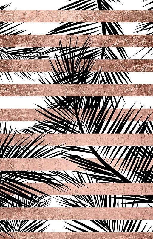 Destaques Palm Tree Iphone Wallpaper Rose Gold Wallpaper Palm Trees Wallpaper