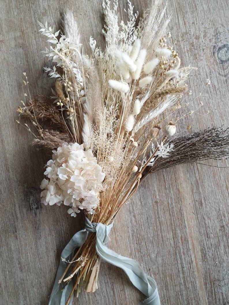 Beautiful dried wedding bouquet white wedding bouquet dried flowers white preserved white bouquet forever lasting immortal dried flowers