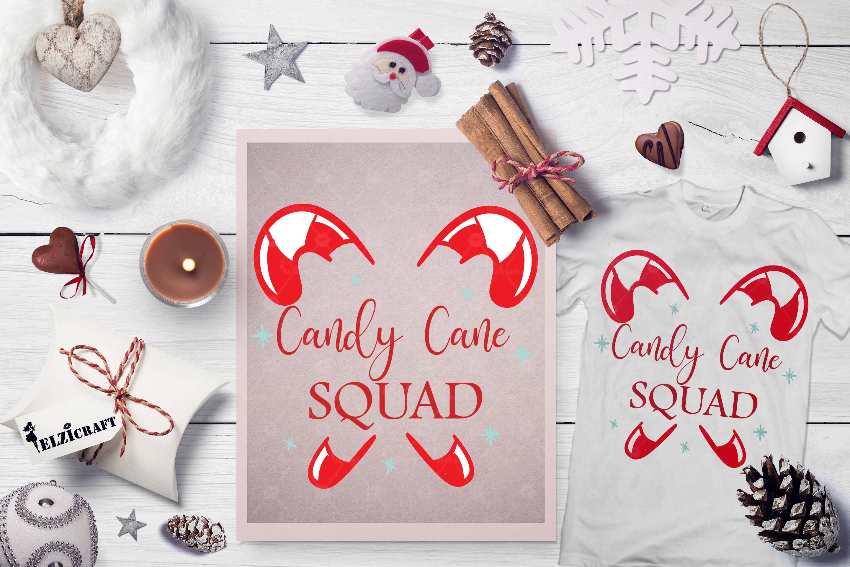 Candy Cane Squad, Christmas, Winter (Graphic) by elzicraft