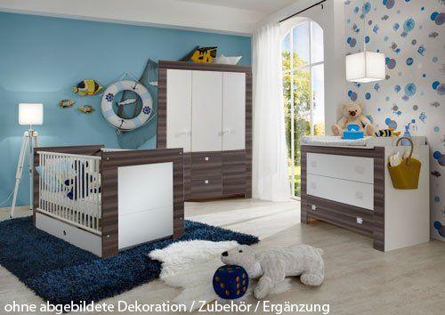 Babyzimmer Nussbaum ~ Babyzimmer 4 tlg. in weiß nussbaum graphit nachb. 3 trg schrank b