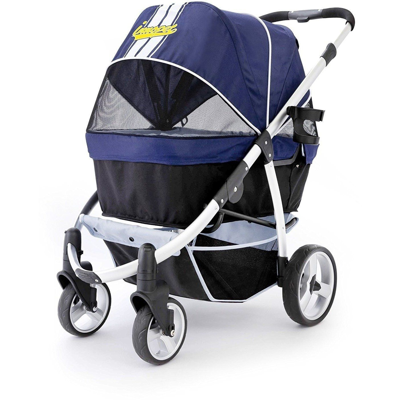 Retro Pet Stroller by Innopet Navy Blue Dog stroller