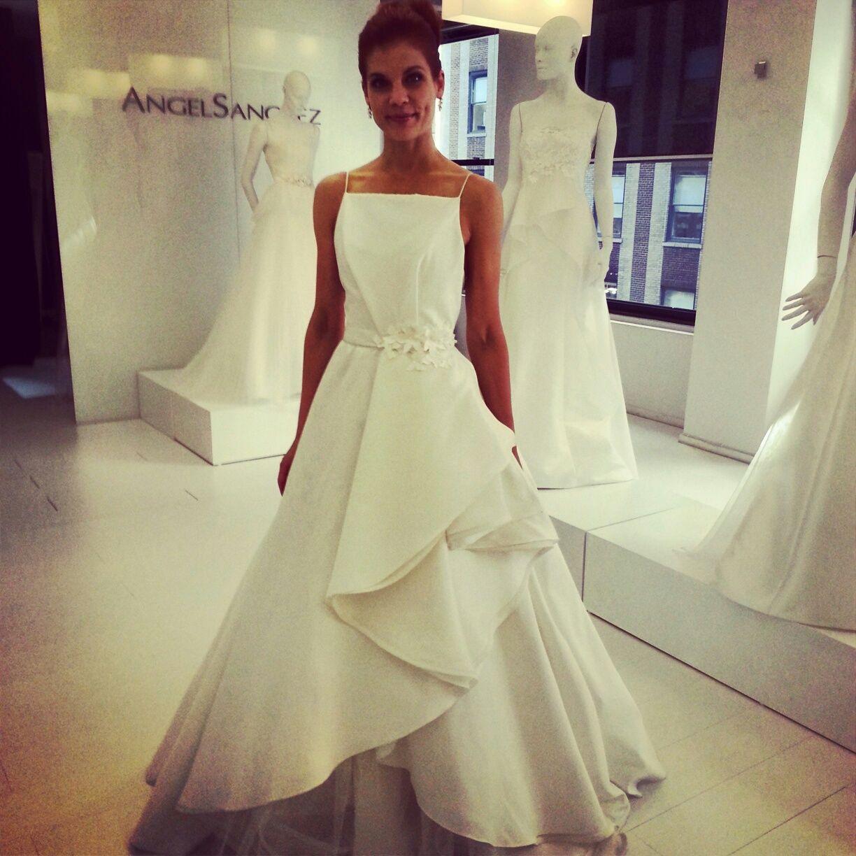New York Times Wedding: Angel Sanchez Wedding Dress, Fall 2014 Collection. Photo