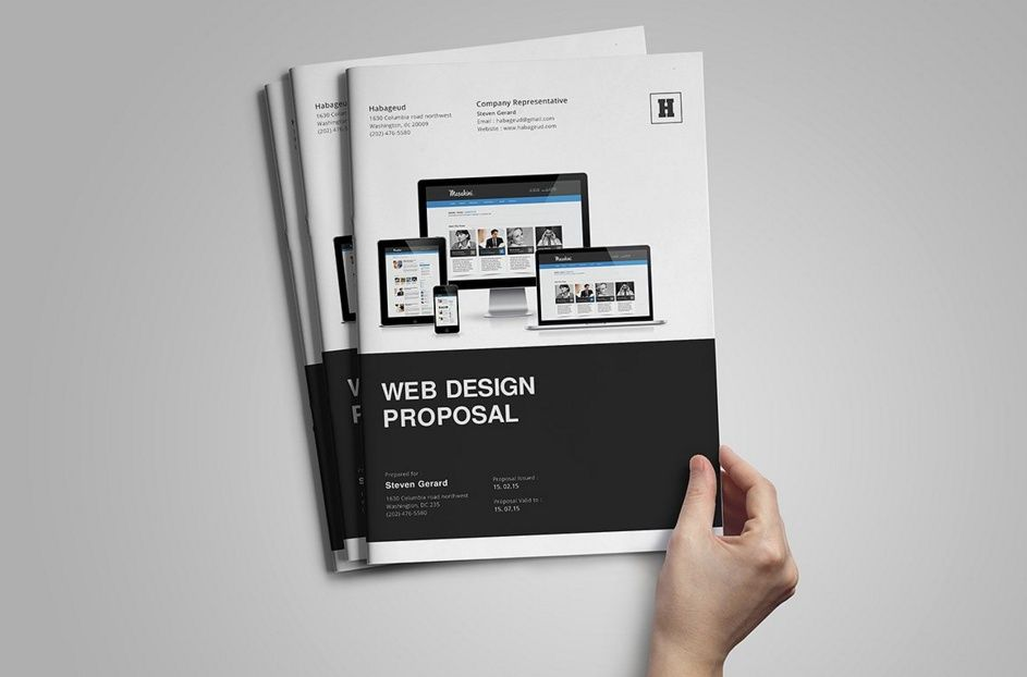 30 Website Proposal Template Psd Indesign And Ai Format Brory