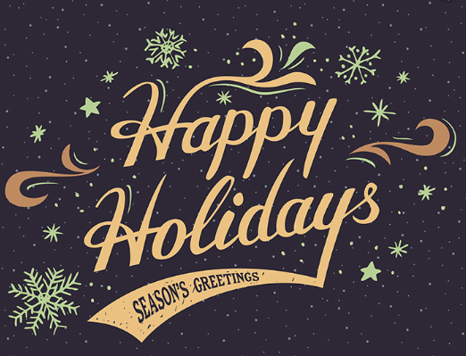 Happy Holidays From All Of Us At Ccbh Hand Lettering Cards Holiday Design Card Vintage Greeting Cards