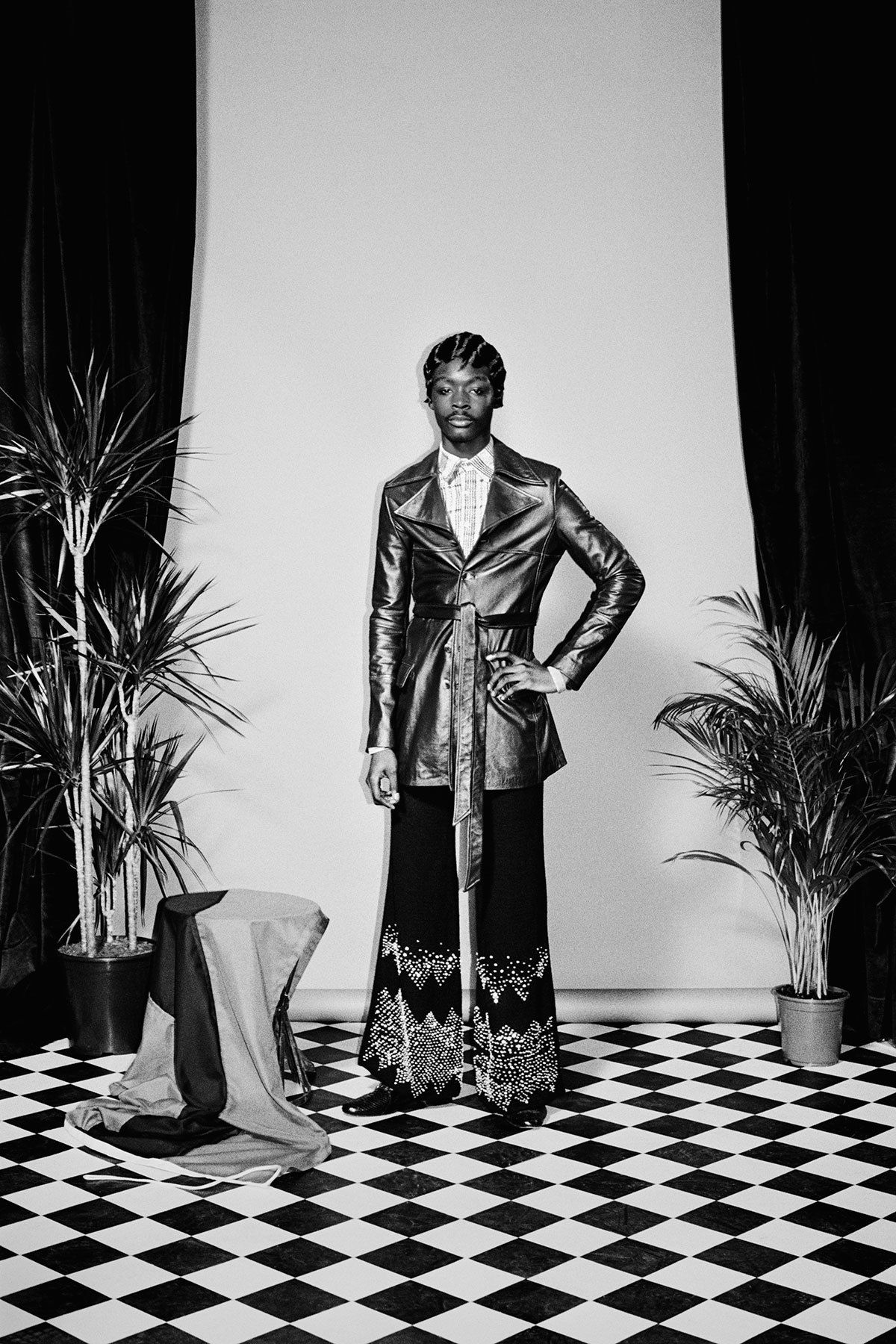 Buffalo Collective co-founder Jamie Morgan brings Wales Bonner's SS16 collection to life on her muse King Owusu.