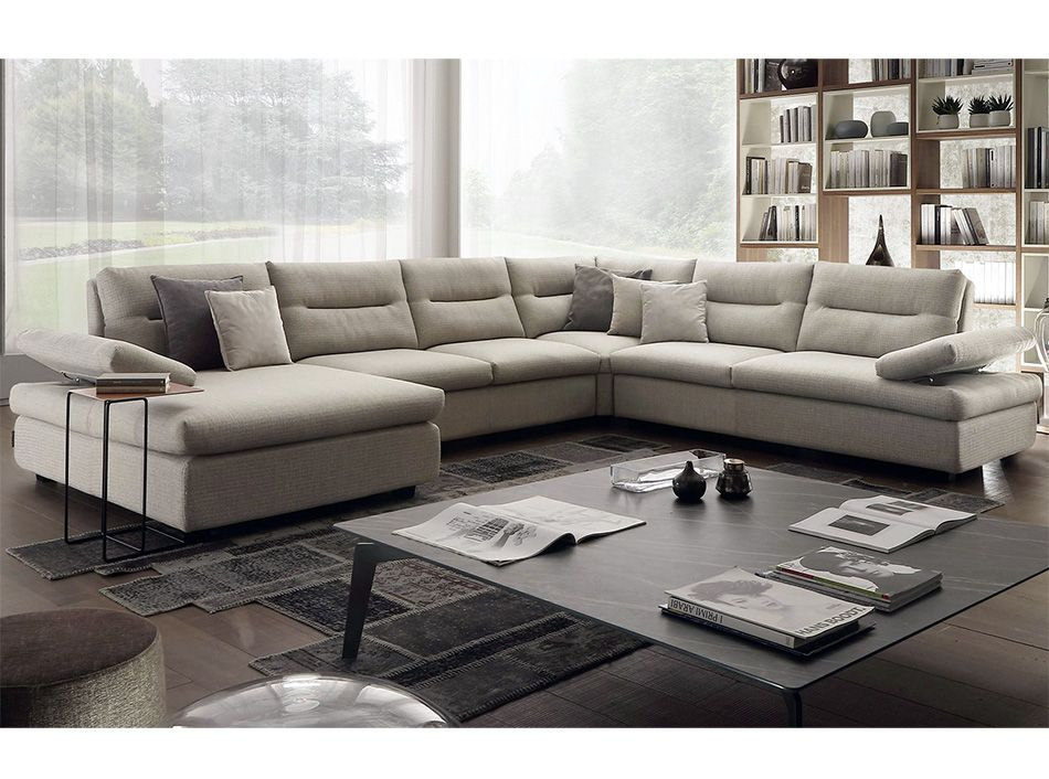 Available in white or black, it has 3 seats, one with chaise longue. Chateau D Ax Ateneo 1763 Corner Sectional Sofa Mig Furniture Divano Componibile Set Divano Design Divano
