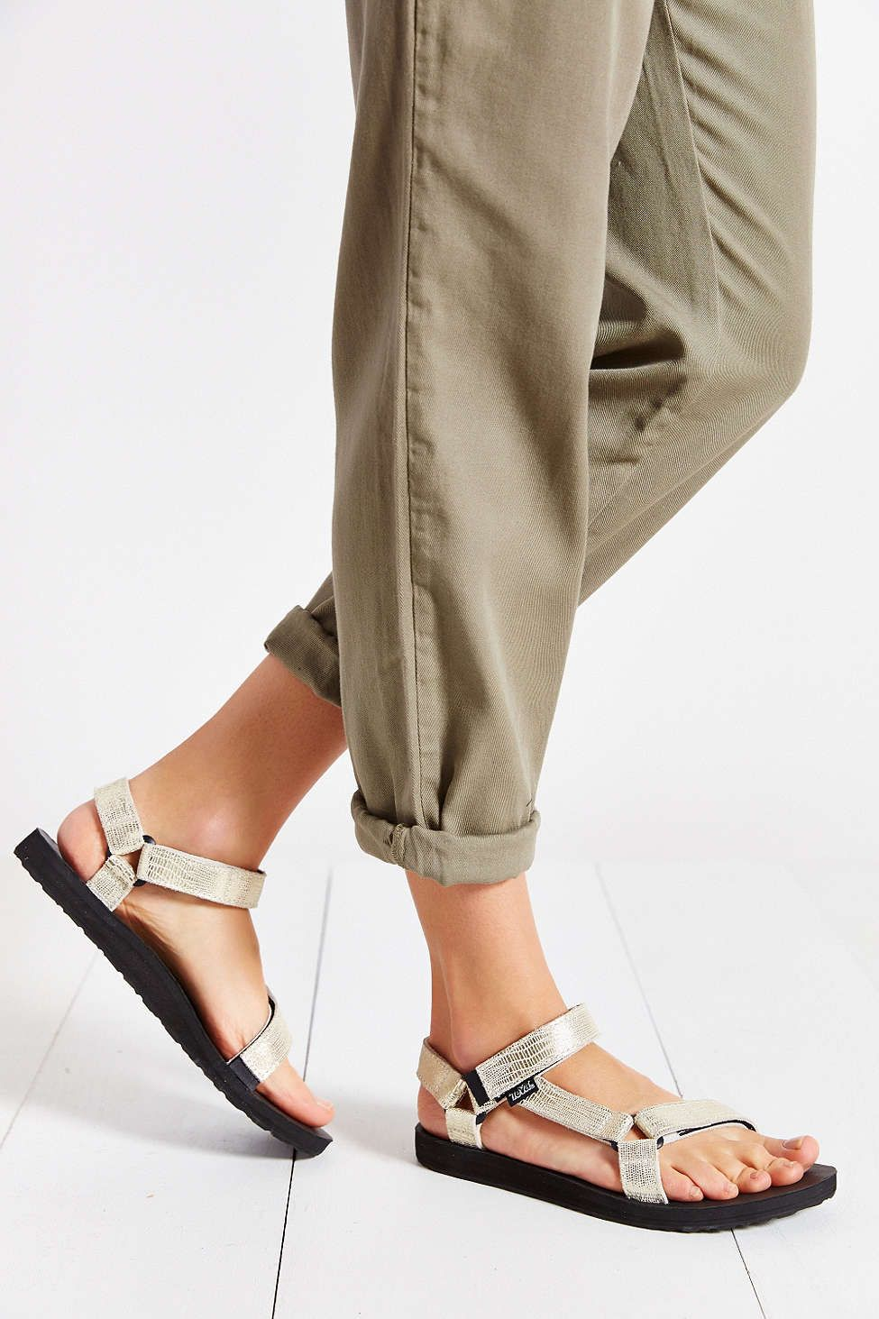 Teva Original Leather Metallic Sandal Urban Outfitters