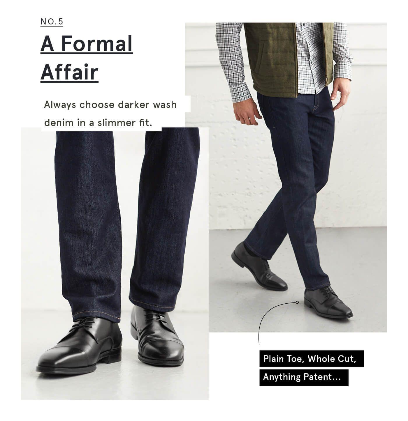 The Right Way To Pair Jeans With Shoes Stitch Fix Men Black Shoes Outfit Mens Black Dress Shoes Blue Jeans Black Shoes [ 1446 x 1400 Pixel ]