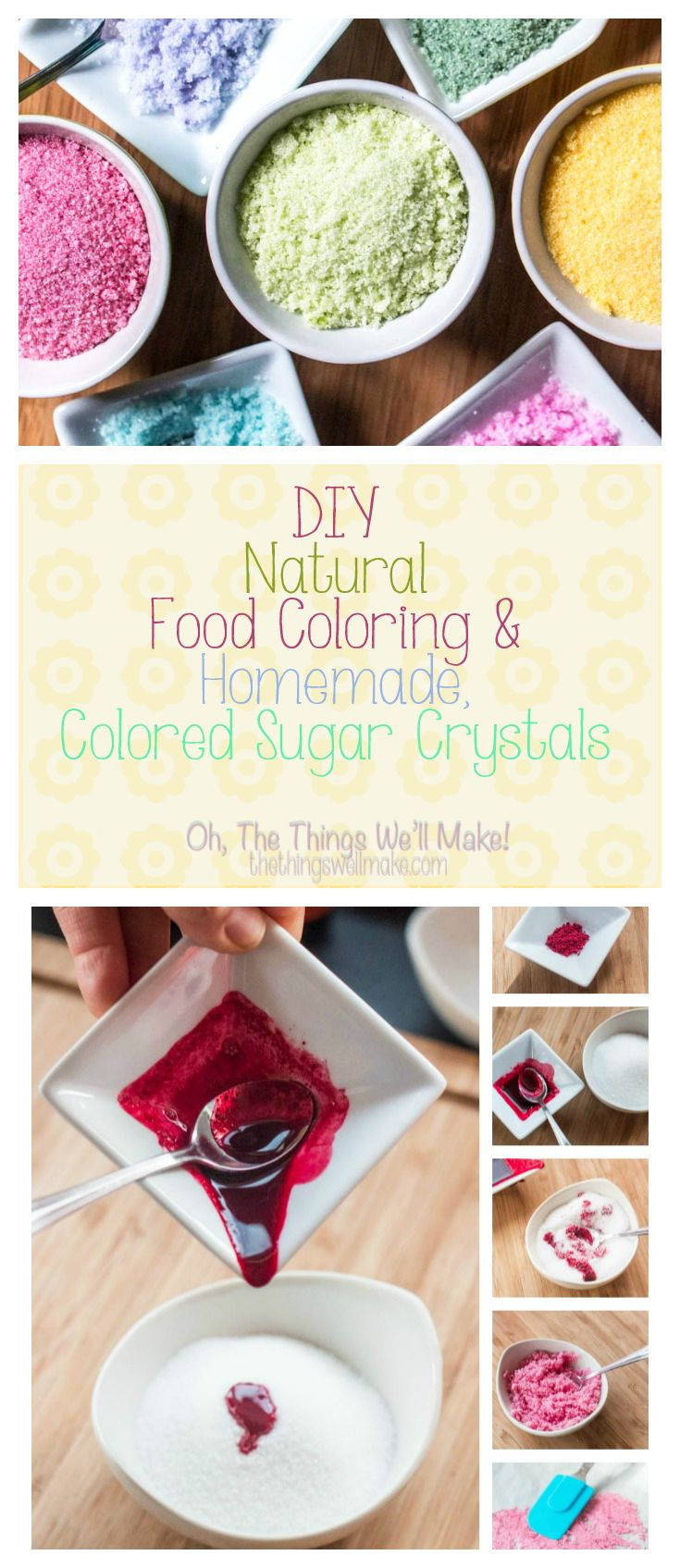 DIY Natural Food Coloring and Homemade Colored Sugar Crystals ...