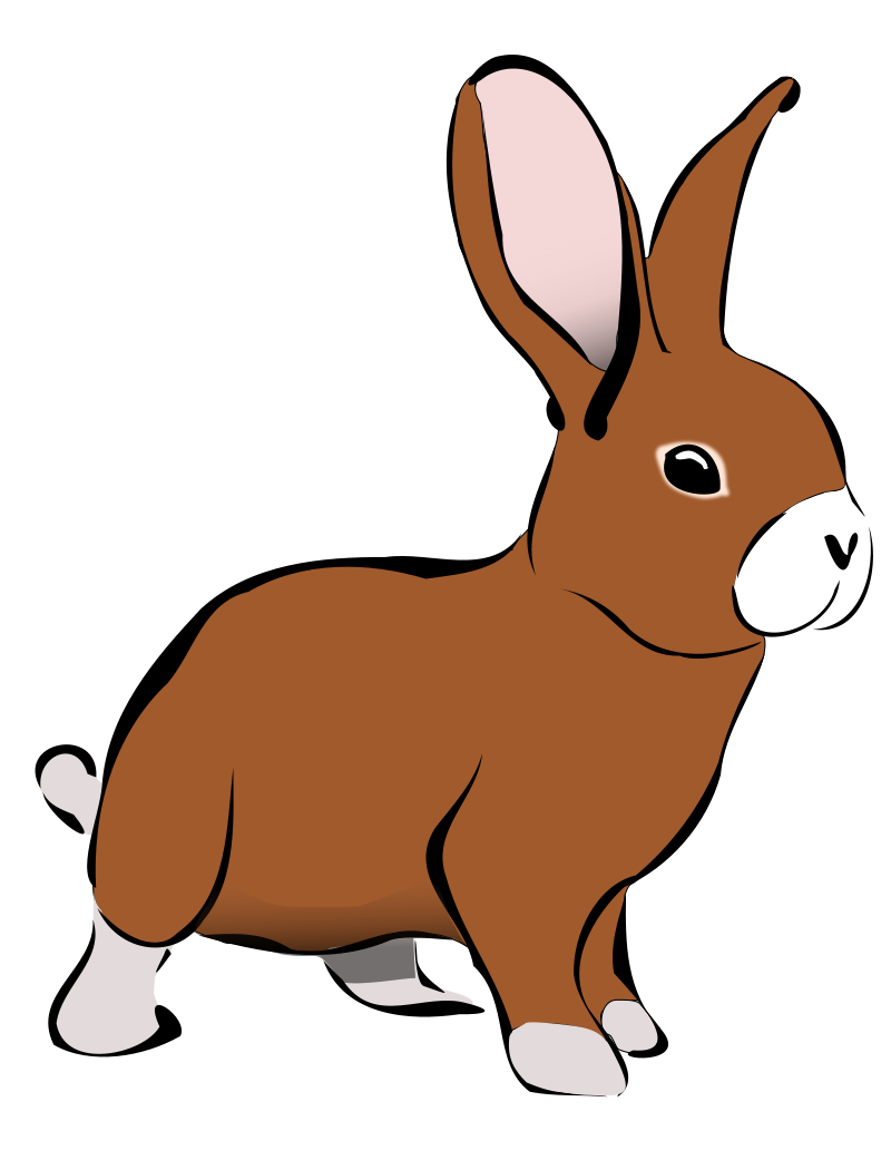 bunny clipart free large images [ 800 x 1041 Pixel ]