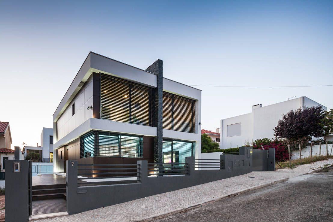 Modernes einfamilienhaus im kasten look