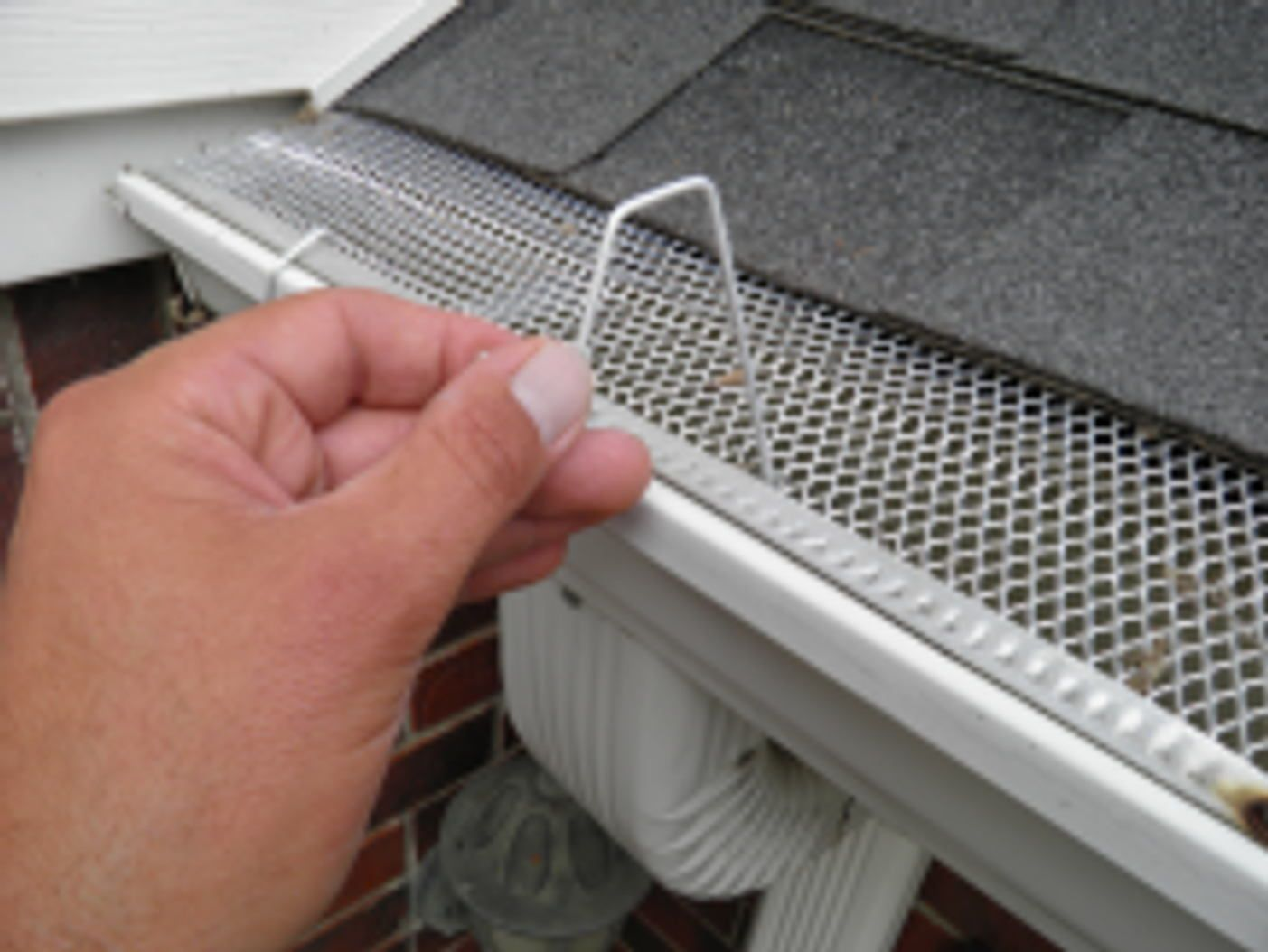 Christmas Light Hangers For Gutters With Mesh Or Perforated Gutter Guard Www Christmashook Com Ch Light Hanger Christmas Light Hooks Christmas Light Hangers