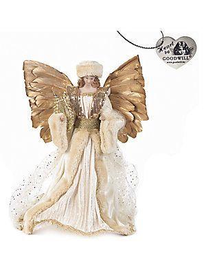 Goodwill Embellished Golden Angel - No Color - Size No Size