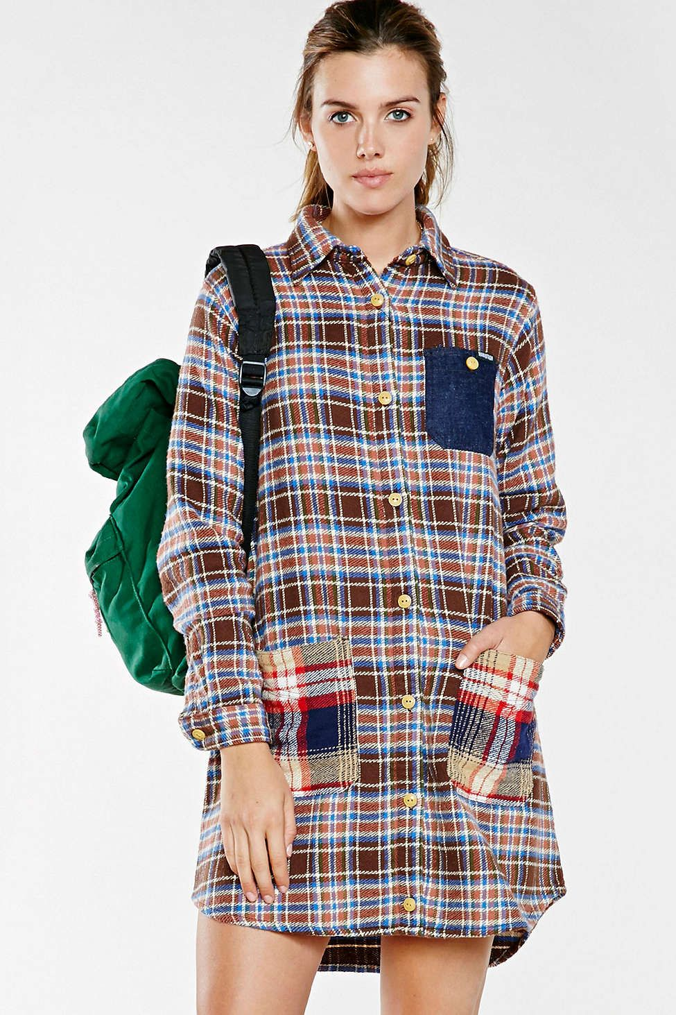 Mandarin collar flannel  Manastash Hemp Flannel Shirt Dress  Crazy Fashion  Pinterest