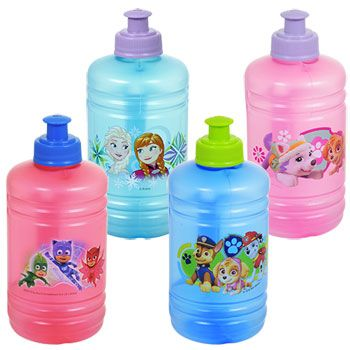 Licensed Character Plastic Jugs with Pull-Top Spouts, 16 oz. #plasticjugs