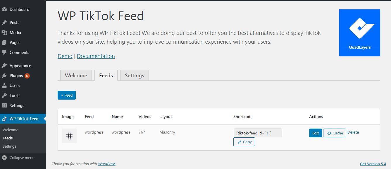 Wordpress Tiktok Feed Wordpress Corporate Presentation Plugins