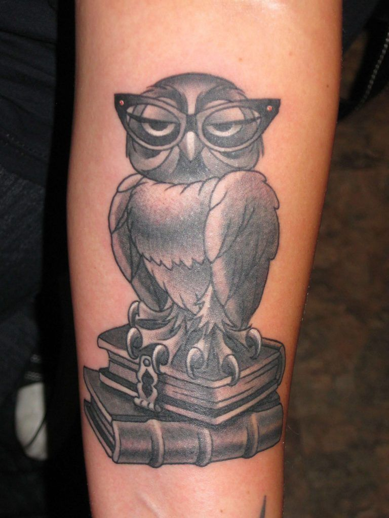 15 Wise Owl Tattoo Designs And Ideas Petpress Book Tattoo Owl Tattoo Design Owl Tattoo