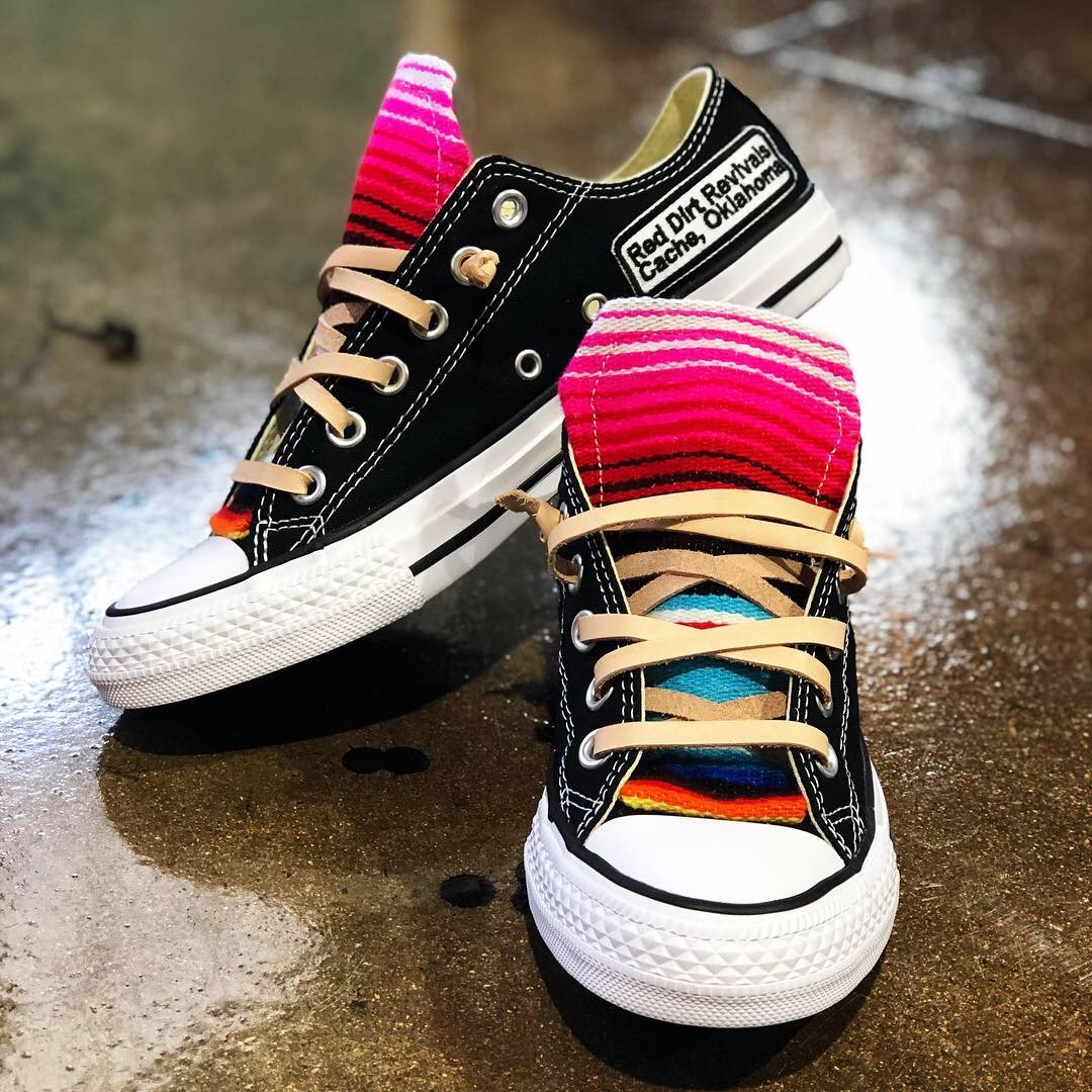 cc324588da072c Serape Sneaker (Black) Leather Shoe Laces