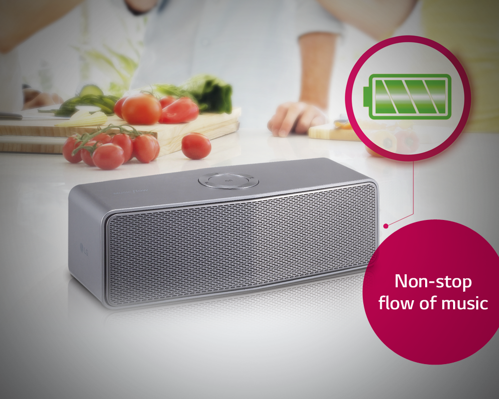 The Rechargeable Built In Battery In Lg Musicflow Lets You Carry A Non Stop Flow Of Your Favourit Entertainment Home Entertainment Entertainment System