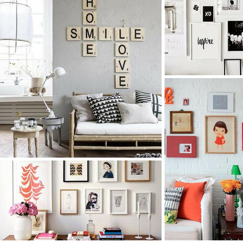 Decor 40 ideias para decorar uma parede utilizando molduras sala decorar paredes parede e - Molduras para paredes ...