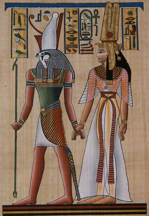 The analogy between the representation of cleopatra and the egyptian goddess isis