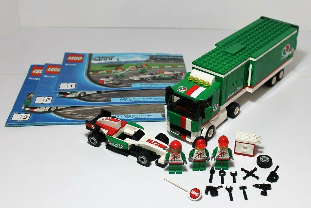 LEGO CITY 60025- GRAND PRIX TRUCK- 100% COMPLETE W