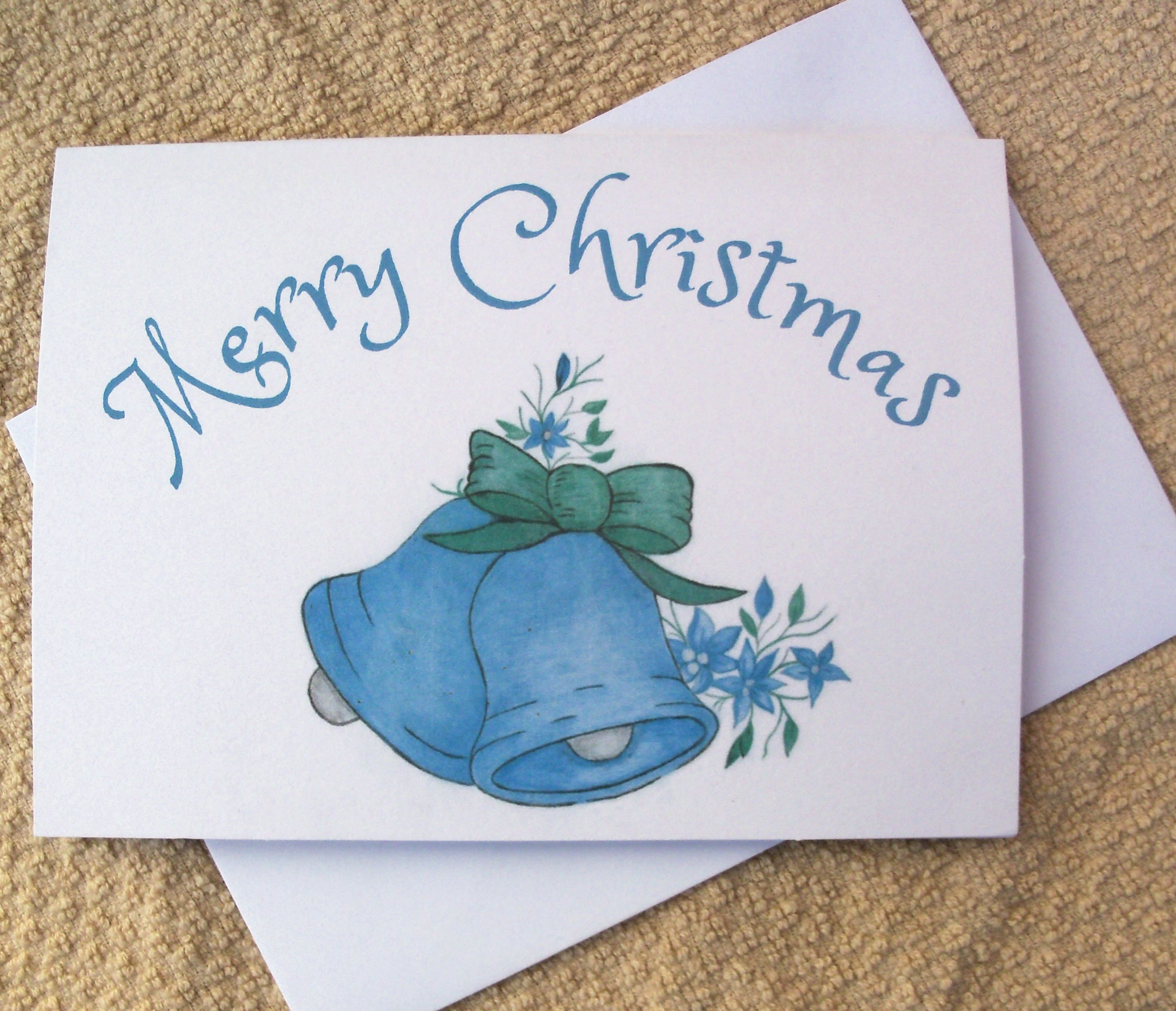 Christmas Cards Bell Christmas Cards Holiday Cards Blue Bell