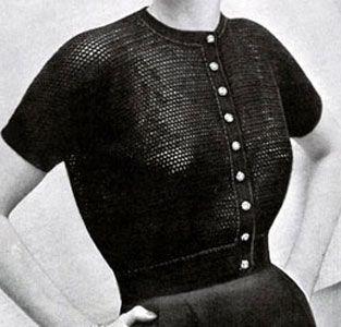 Filet Crochet Sweater Pattern