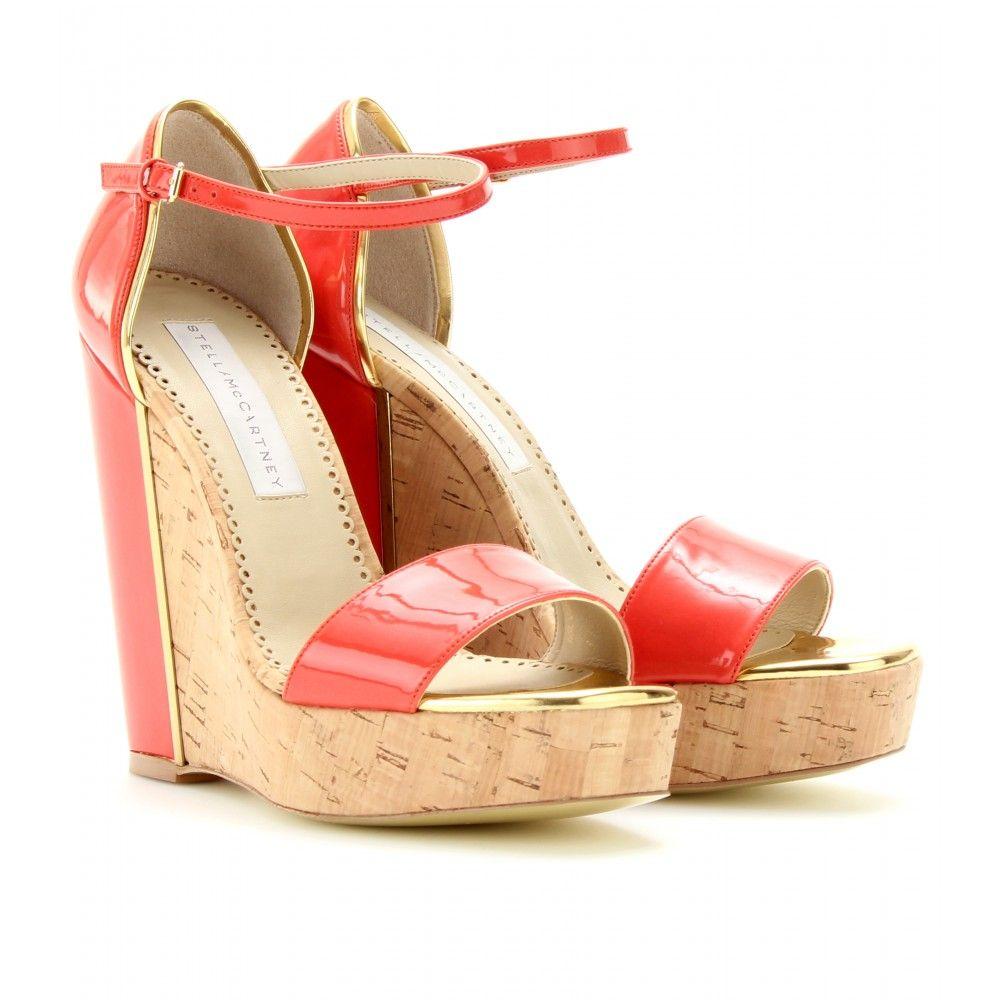 mytheresa.com - Stella McCartney - CORK WEDGES - Luxury Fashion for Women / Designer clothing, shoes, bags