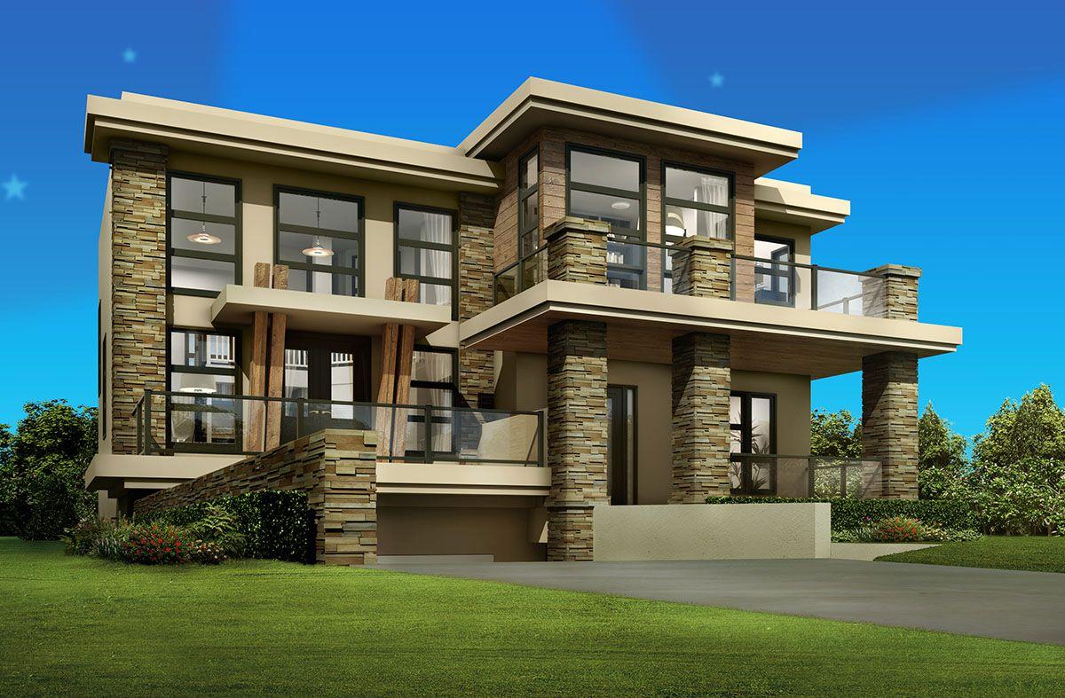 Planos de casa moderna muy amplia y lujosa de 3 plantas for Fotos casas modernas una planta