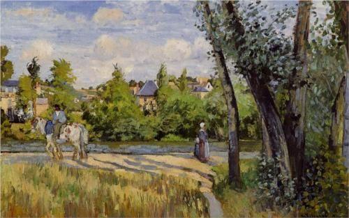 Landscape, Bright Sunlight, Pontoise - Camille Pissarro