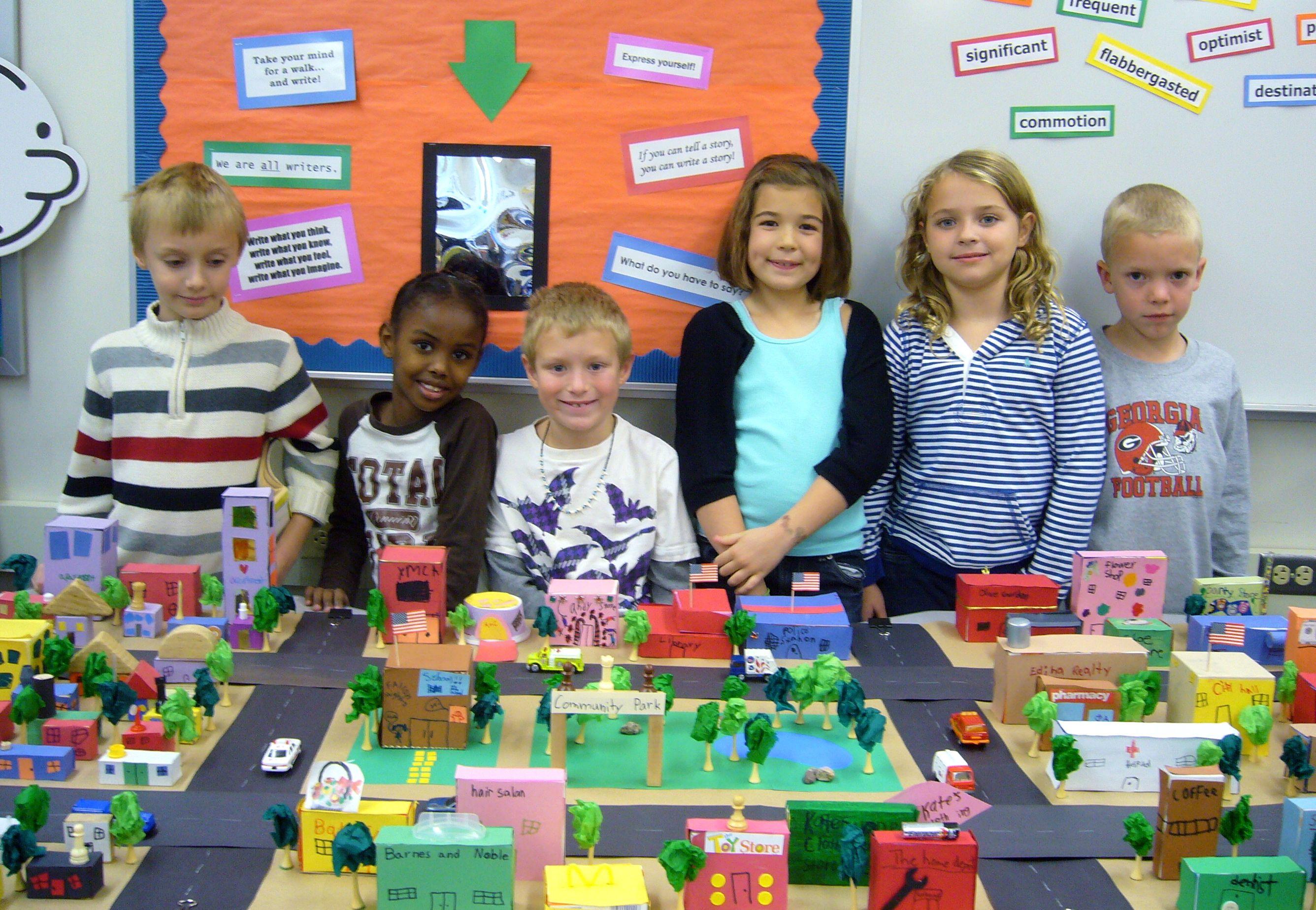 second grade social studies community lessons