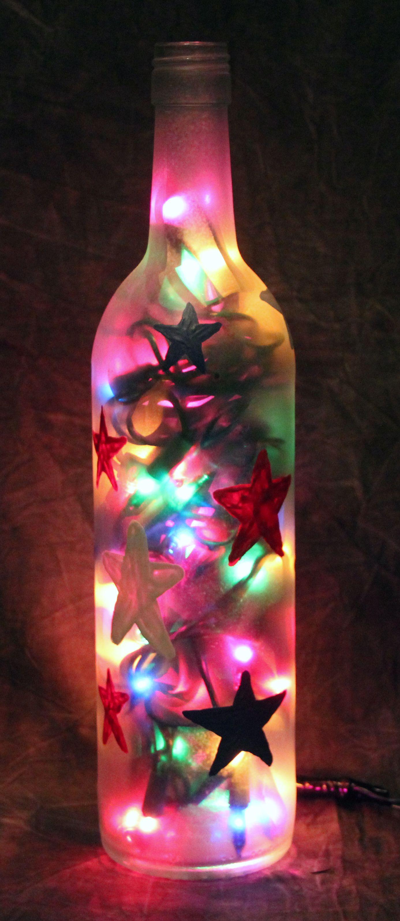 Wine Bottle Creations By Jenn Bottles Decoration Lighted Wine Bottles Wine Bottle