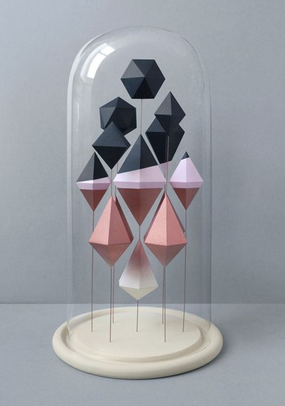 sculpted geometric shapes created by Mark of Present