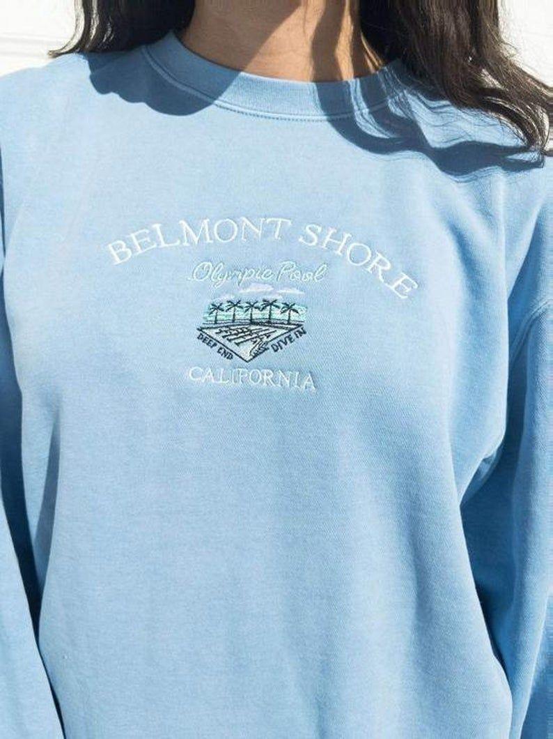Belmont Shore Vintage Wash Unisex Crew Neck Sweatshirt Etsy Vintage Crewneck Sweatshirt Vintage Sweatshirt Cute Sweatshirts [ 1060 x 794 Pixel ]