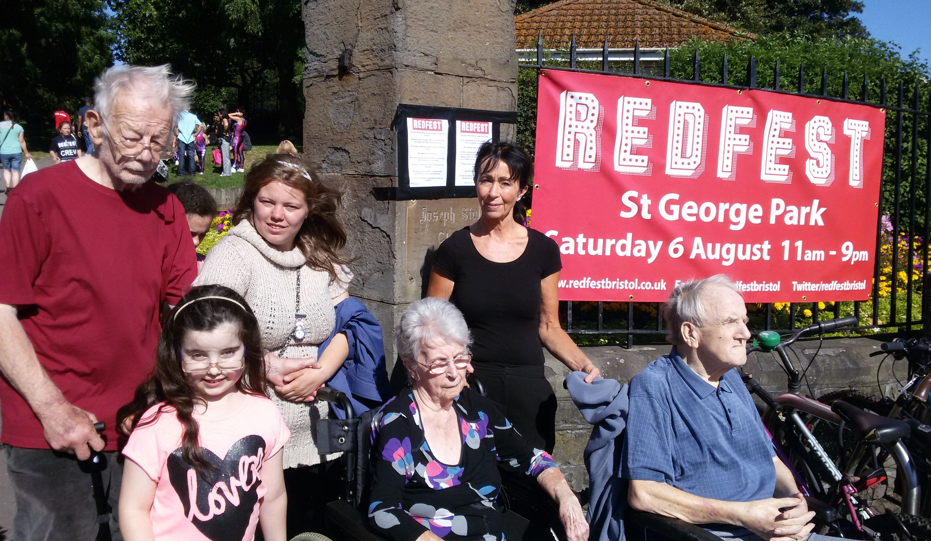A Group From Riversway Nursing Home In Bristol Attended The Popular Redfest Bristols St George Park Recently