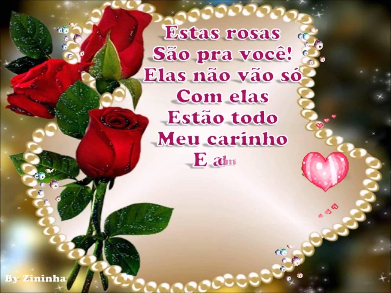 Rosas Para Voce Mensagem De Aniversario Aniversario Amigo
