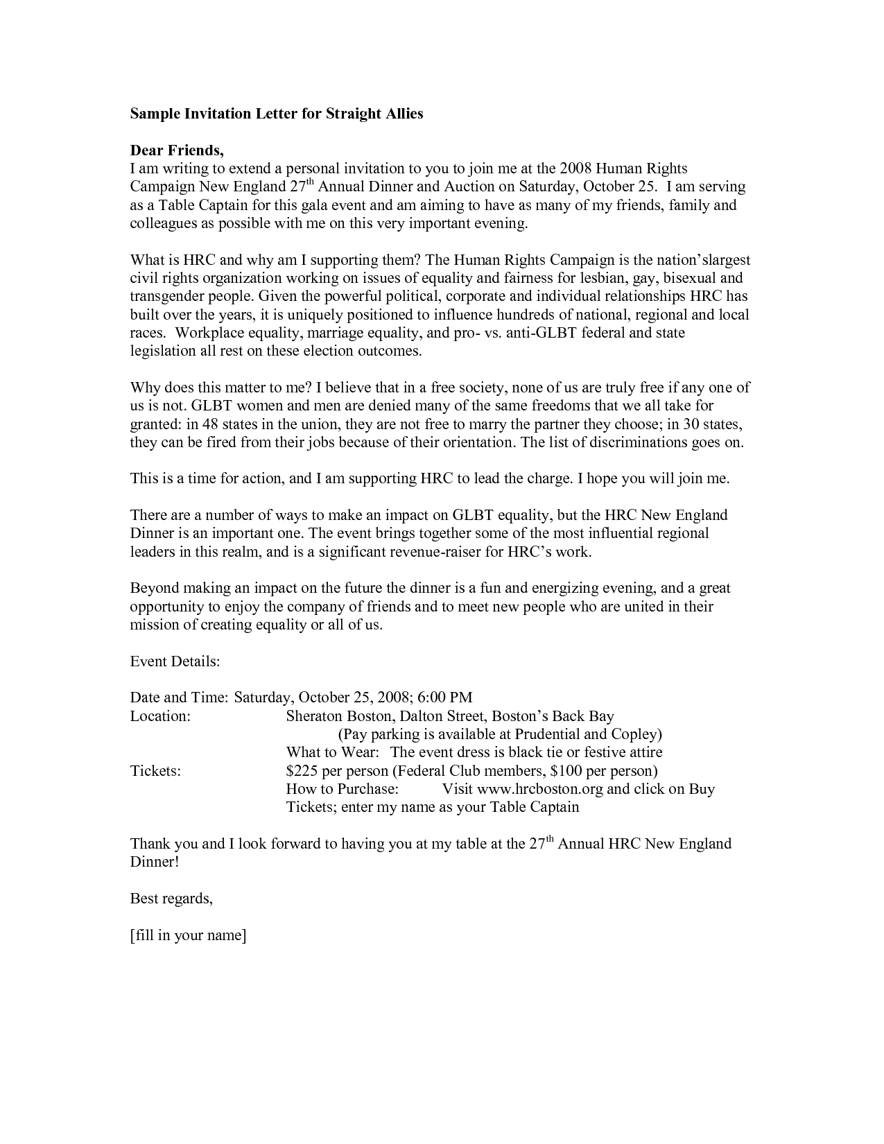 How To Write A Invitation Letter For Dinner Fiveoutsiderscom