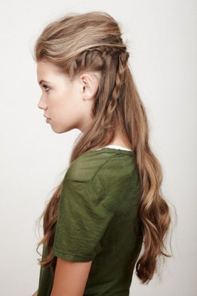 Gorgeous half-up and braided hairstyle
