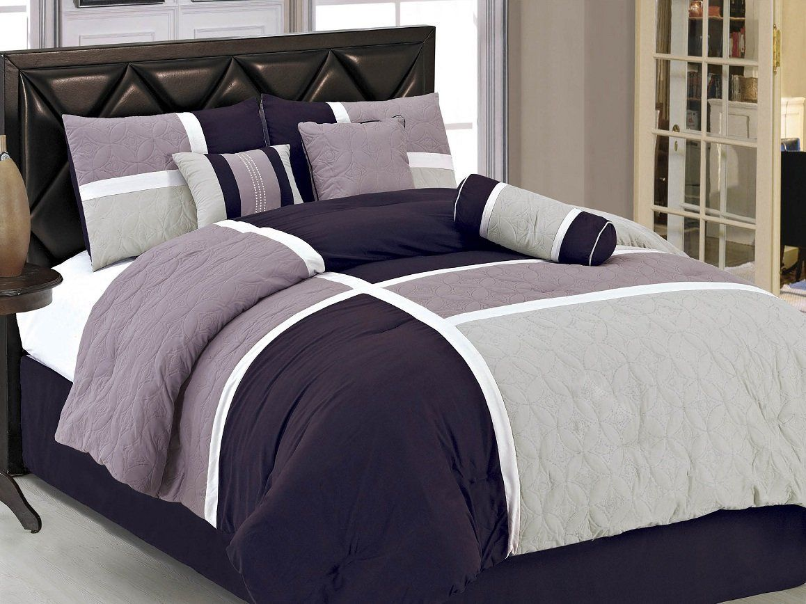 Comforter Set, Queen, Lavender Purple | Ease Bedding With Style ... : purple quilt bedding - Adamdwight.com